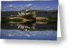Old Boat Reflection Greeting Card
