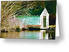 Old Boathouse Greeting Card