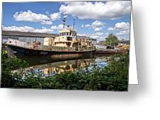 Old Boats Along The Exeter Canal 2 Greeting Card