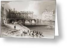 Old Boats Bridge, Limerick, Ireland Greeting Card