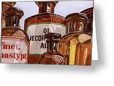 Old Bottles Greeting Card