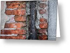 Old Brick Wall Abstract Greeting Card