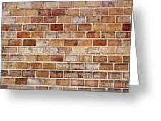 Old Brick Wall Greeting Card