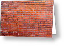 Old Brick Wall Greeting Card