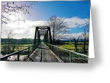 An Old Railroad Bridge  Greeting Card