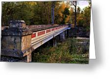 Old Bridge Greeting Card