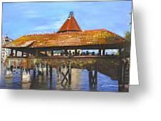 Old Bridge Lucerne  Greeting Card