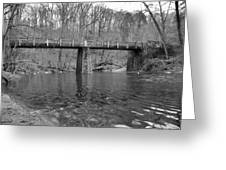 Old Brige In The Fall Greeting Card