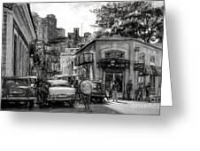 Old Buildings And Cars In Havana - V2 Greeting Card