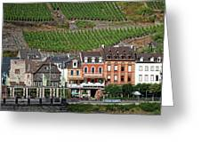 Old Buildings And Vineyards Greeting Card