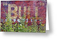 Old Bull Durham Sign - Delta Greeting Card