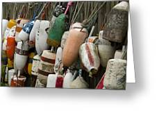 Old Buoys Hanging Out Greeting Card