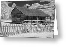Old Cabin Ir Greeting Card
