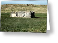 Old Cabin On The Plains Greeting Card