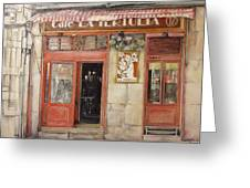 Old Cafe- Santander Spain Greeting Card by Tomas Castano