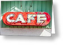 Old Cafe Sign Greeting Card
