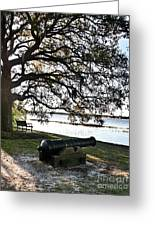 Old Cannon By The Sea Greeting Card