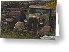 Old Car And Truck Greeting Card