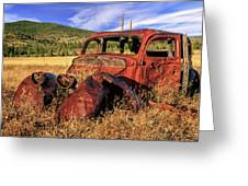 Old Car At Susanville Ranch Greeting Card
