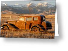 Old Car In Mountains  1 Of 75 Greeting Card