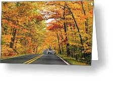 Old Car Tour To Copper Harbor Greeting Card