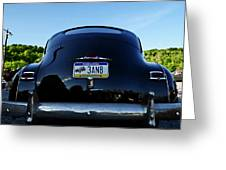 Old Car Trunk With Artistic Background Greeting Card
