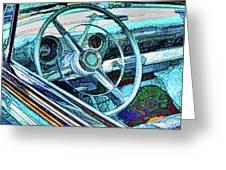 Old Car Wheel Greeting Card
