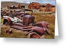 Old Cars Bodie Greeting Card