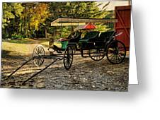Old Cart - Old Movie Edition Greeting Card
