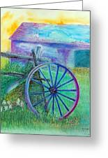 Old Cartwheel At Father Pandosy Mission Greeting Card