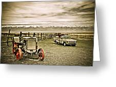 Old Case Tractor Greeting Card