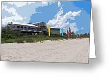 Old Casino On An Atlantic Ocean Beach In Florida Greeting Card