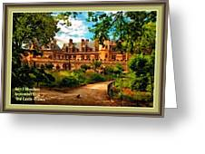 Old Castle - France H A With Decorative Ornate Printed  Frame  Greeting Card