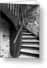Old Castle Stairway Greeting Card