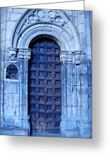 Old Cathedral Door In Barcelona Greeting Card
