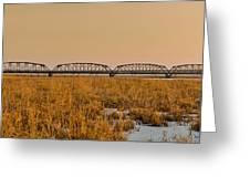 Old Cedar Road Bridge Greeting Card