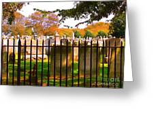 Old Cemetary In Newport Rhode Island Greeting Card
