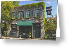 Old Charleston Gardens On 61 Queen Street Greeting Card