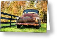 Old Chevy Greeting Card