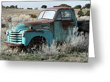 Old Chevy Farm Truck In The Field Greeting Card