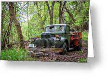 Old Chevy Oil Truck 1  Greeting Card