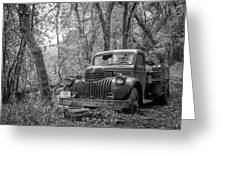Old Chevy Oil Truck 2 Greeting Card