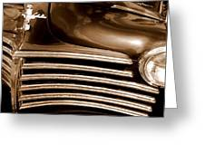 Old Chrysler Grille Greeting Card