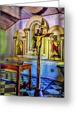 Old Church Altar Greeting Card