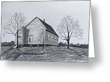 Old Church At Beatties  Ford Greeting Card