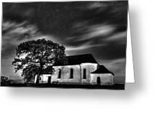Old Church B/w  Greeting Card