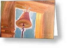 Old Church Bell Greeting Card
