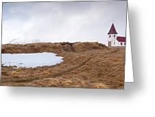 Old  Church In Hellnar, Snaefellsnes Peninsula, Iceland Greeting Card