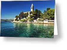 Old Church On Croatian Island Greeting Card