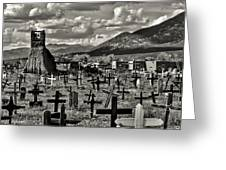 Old Church Taos Pueblo Greeting Card by Lou  Novick